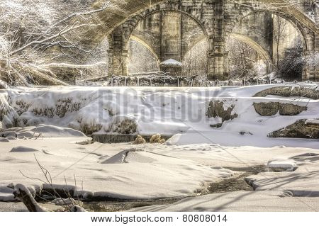 Beautiful Berea Falls In Winter