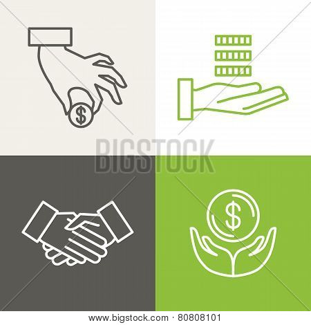 Vector Finance And Banking Icons