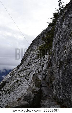 Climbing the Moro Rock