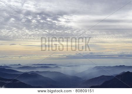 Sunset from the Moro Rock