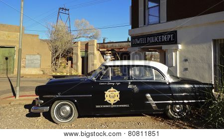 A 50S Ford Police Car, Lowell, Arizona
