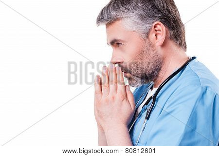 Doctor Praying.
