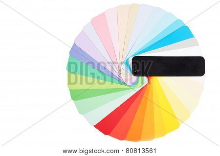 Round Color Palette Isolated
