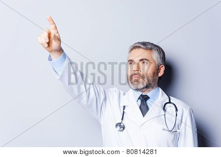 Doctor Pointing Away.