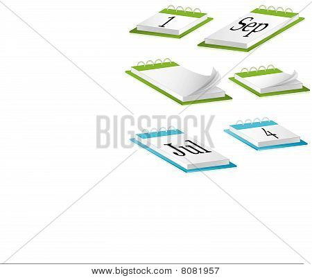 Desk Calendar. vector illustration