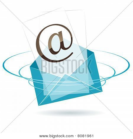 Envelope icon. vector illustration