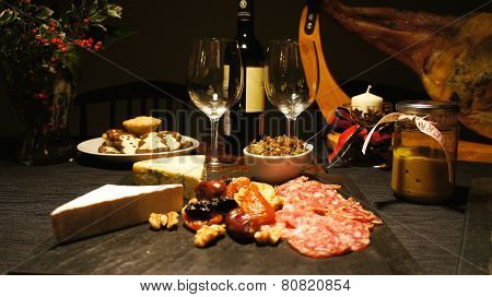 Spanish festive gourmet table