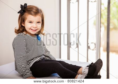 Cute Little Girl At The Doctor's Office