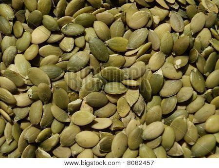 Closeup of pumpkin seeds