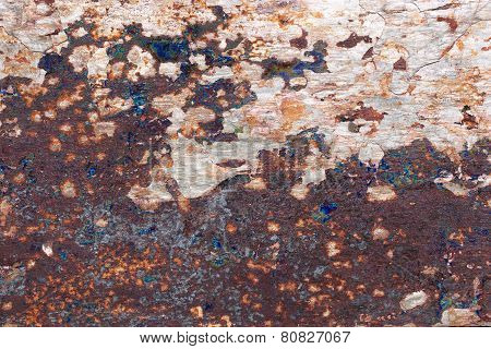 Pattern of a stone slab in purple, gray, blue, orange