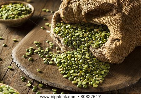 Raw Organic Green Split Peas