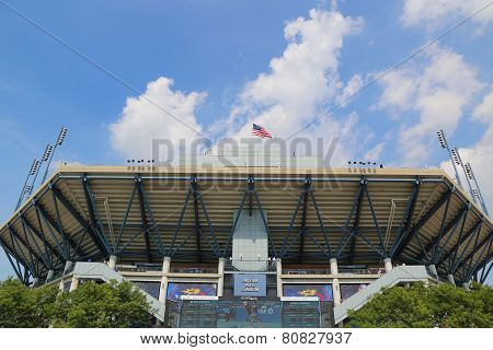Arthur Ashe Stadium during US Open 2014 at Billie Jean King National Tennis Center