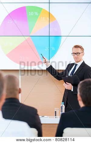 Presentation In Conference Hall.