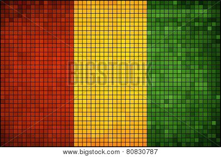 Abstract Mosaic Flag of Guinea