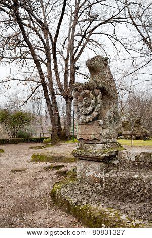 Bear Holding The Roman Rose Emblem Of Orsini Family