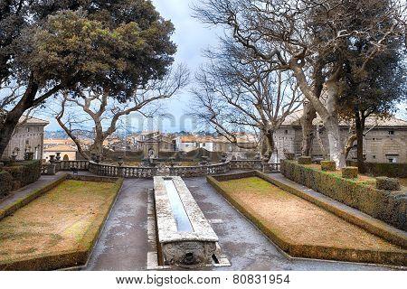 The Table Fountain Villa Lante Italy