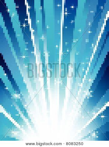 vector random blue mosaic