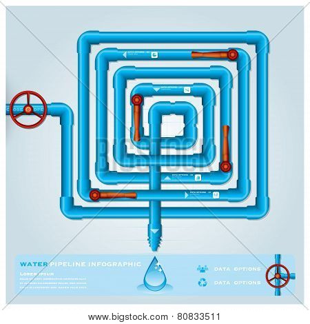 Water Pipeline Maze Business Infographic
