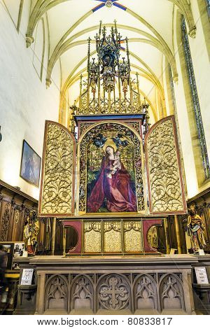 Famous Altar Virgin Mary In The Rose Garden