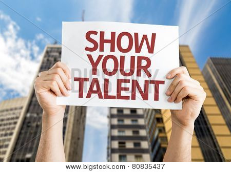 Show your Talent card with a urban background