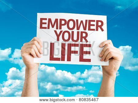 Empower your Life card with sky background