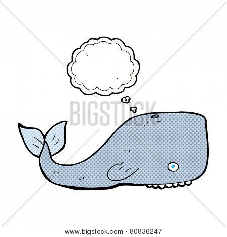 cartoon whale with thought bubble