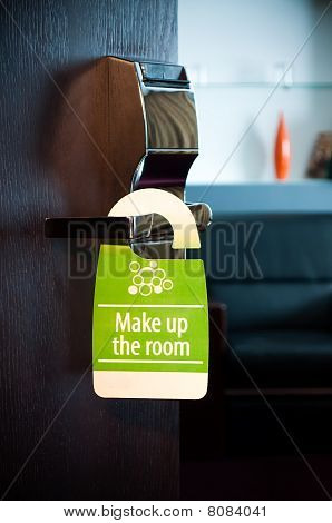 """make up the room"" sign"