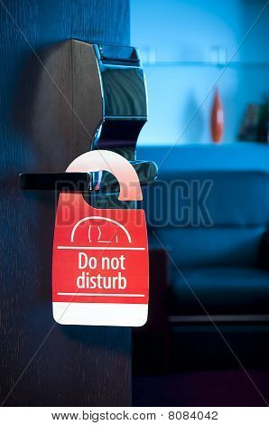 """do not disturb"" sign"