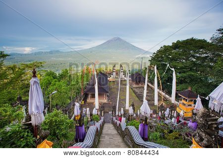 Agung Volcano, Bali, Indonesia. View From Pura Lempuyang