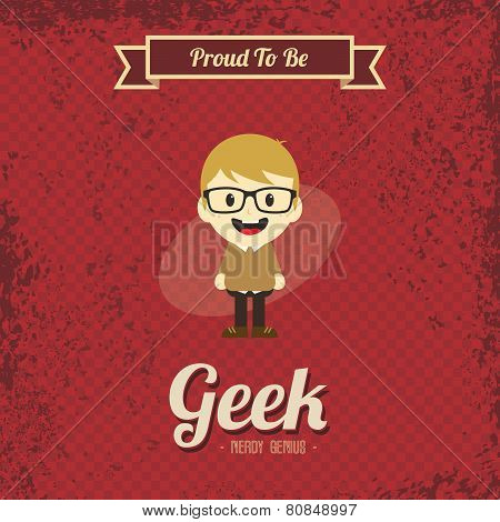 cartoon geek boy character