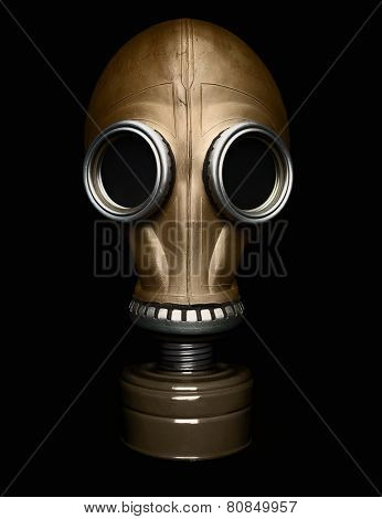 Gas mask isolated on black -Clipping path