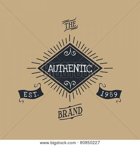 hand lettered catchword vintage tag