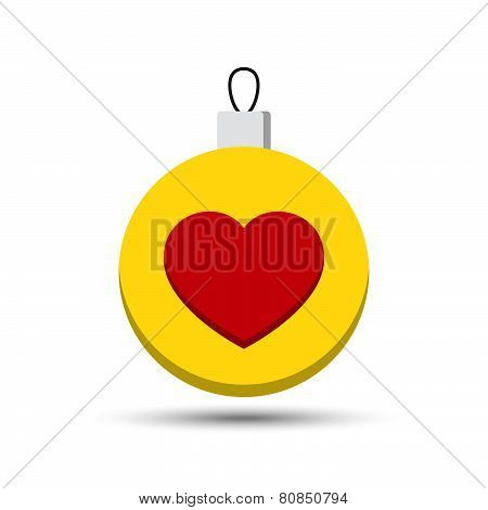 Vector Love Heart Ball
