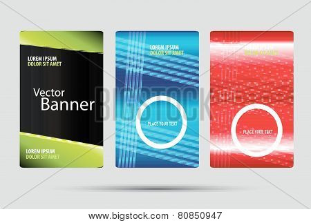 Vector vertical banner set