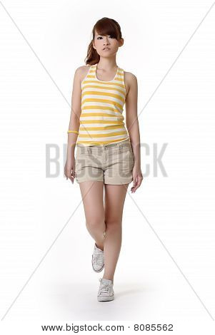 Athletic Girl Walking
