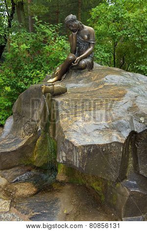 Fountain Girl With Jug, Tsarskoye Selo, St. Petersburg