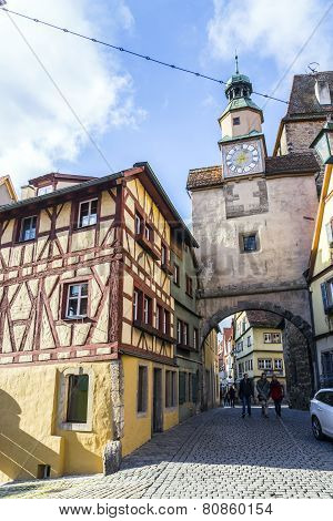 Historic Building In Rothenburg Ob Der Tauber