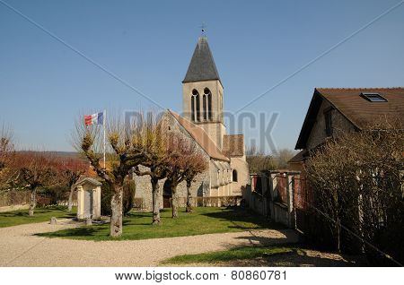 France, The Church Of Mareil Sur Mauldre