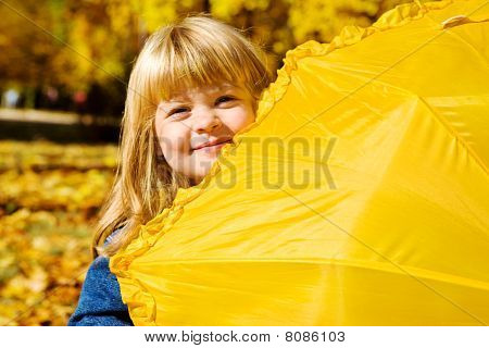 Preschool Girl Hiding