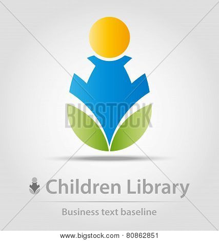 Children Library Business Icon