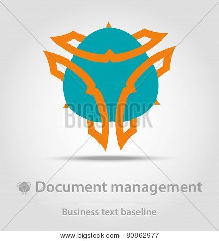 Document Management Business Icon