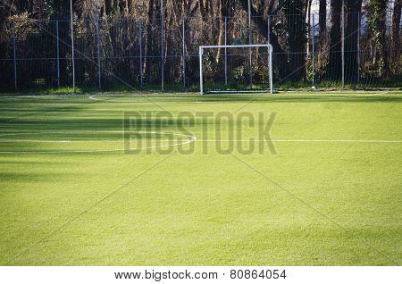 Football Green Empty Play-field