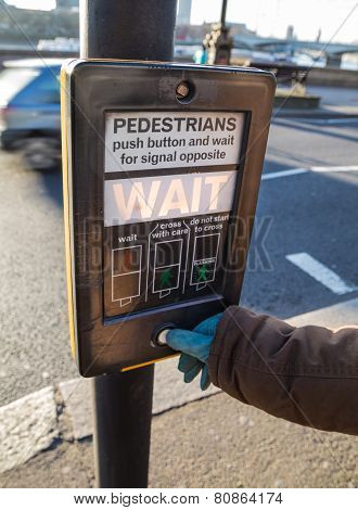 Wait Plate Is Operated At A Traffic Light