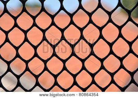 Metallic Window Fence, Grid