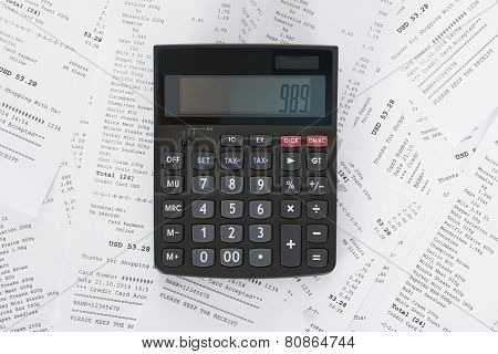 Calculator And Receipts With Costs