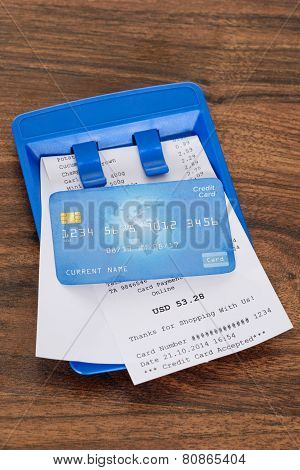 Credit Card On Shopping Bill
