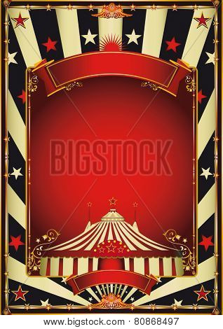 Nice vintage circus entertainment. A vintage circus background with a red frame for your entertainment