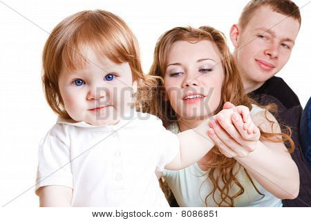 Sweet Baby With Parents