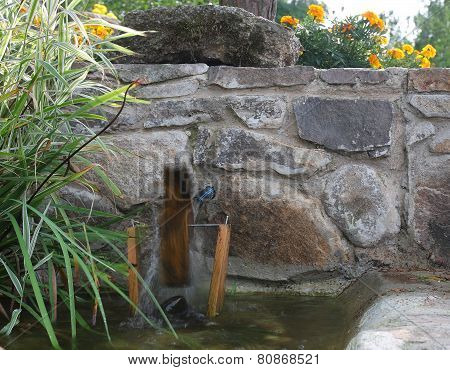 Water Mill In Garden