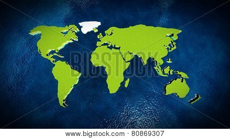 Map Of The World In The Ocean